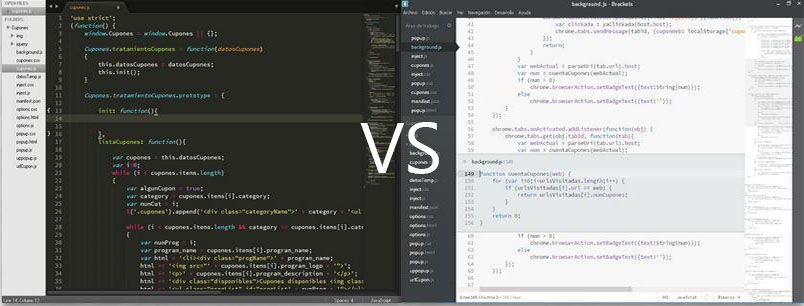 Sublime Text vs Brackets